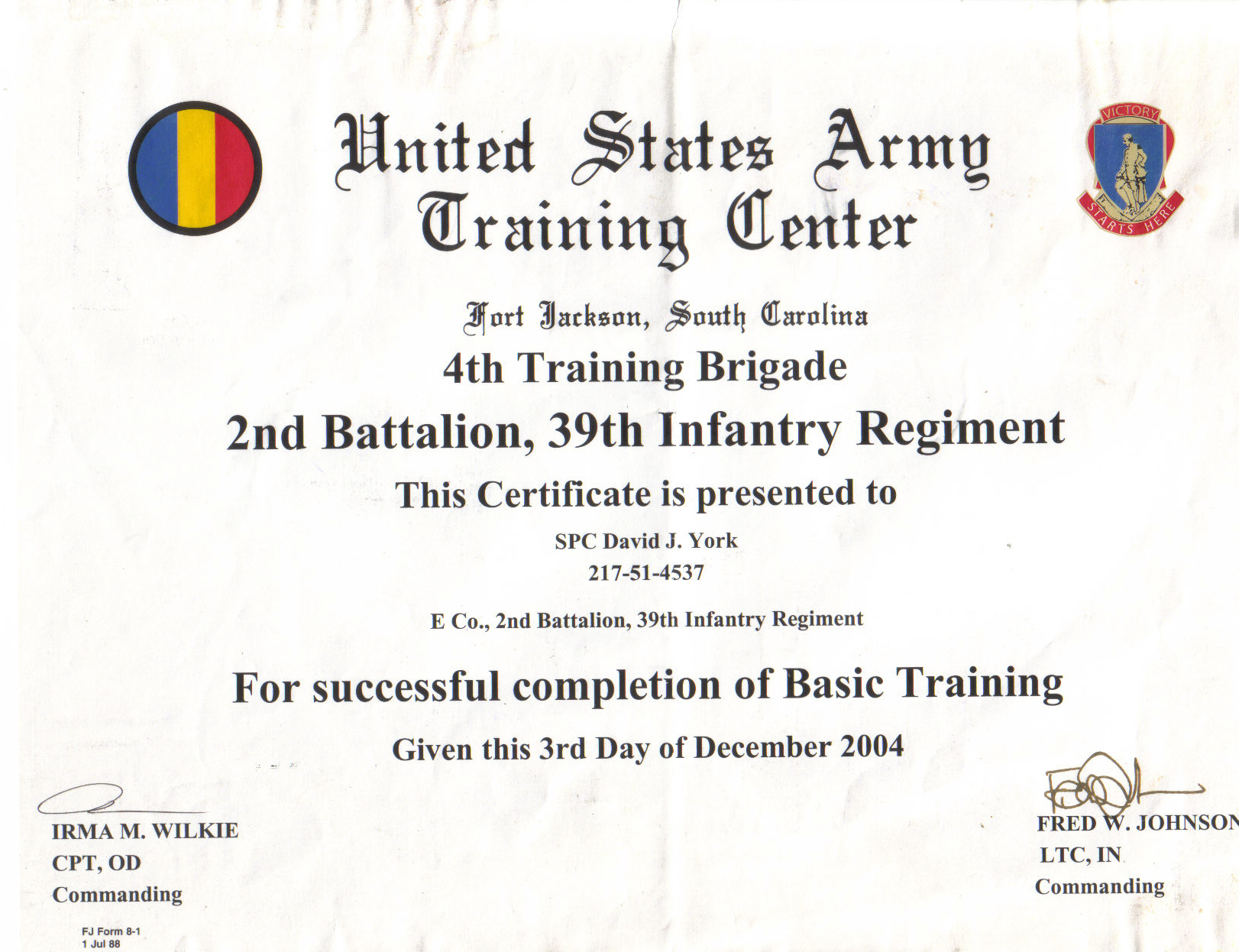 Print photos view full size image for Army certificate of completion template